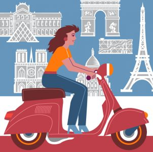 Paris-Scooter-Gal