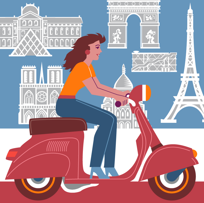 Paris-Scooter-Gal