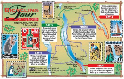 One of many special feature different maps for Rodale Press-Bicycling Magazine