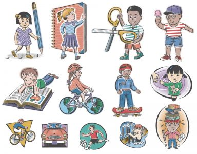 Assorted children illustrations for Woman's Day magazine.